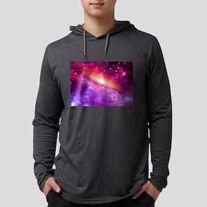 Red And Purple Nebula Long Sleeve T-Shirt