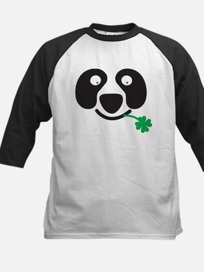 Green Irish St Patricks day Panda Baseball Jersey