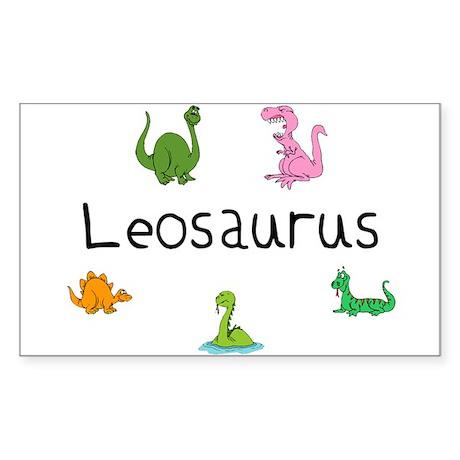 Leosaurus Rectangle Sticker