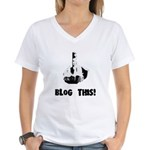 Blog This! Women's V-Neck T-Shirt