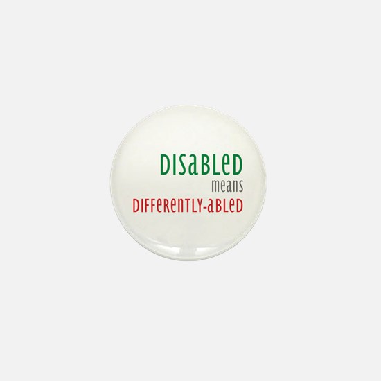 Disabled = Differently-abled Mini Button