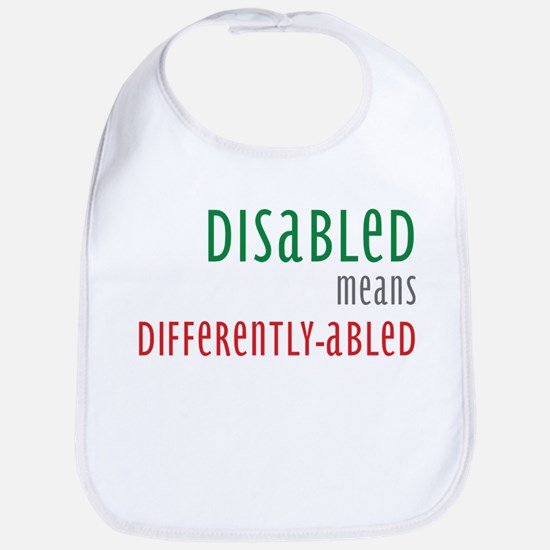 Disabled = Differently-abled Bib