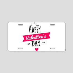 Happy Valentine's Day Aluminum License Plate