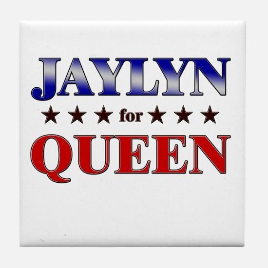 JAYLYN for queen Tile Coaster