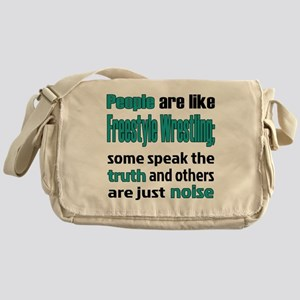 People are like Freestyle Wrestling Messenger Bag