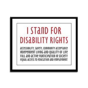 Disability Rights Framed Panel Print
