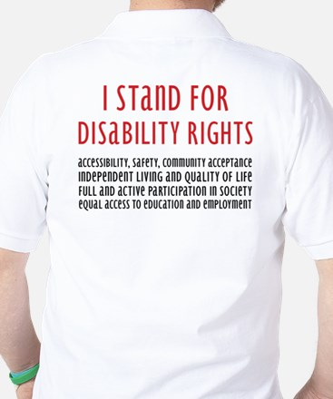 Disability Rights Golf Shirt