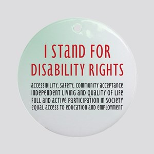 Disability Rights Ornament (Round)