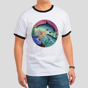 Mermaid & Dolphin Adult Ringer T