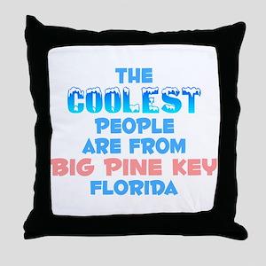 Coolest: Big Pine Key, FL Throw Pillow