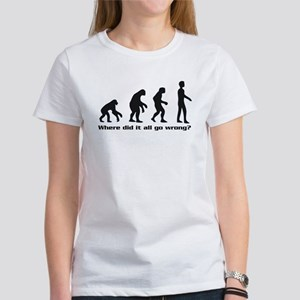 Evolution - Where did it all go wrong? Women's T-S