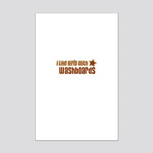 I Like Girls with Washboards Mini Poster Print