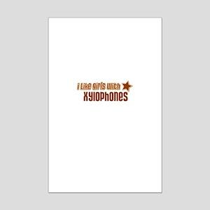 I Like Girls with Xylophones Mini Poster Print