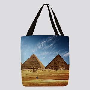 Egyptian Pyramids and Camel Polyester Tote Bag