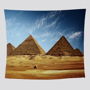 Egyptian Pyramids and Camel Wall Tapestry