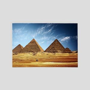 Egyptian Pyramids and Camel 4' x 6' Rug