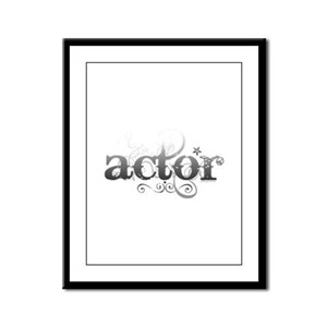 Urban Actor Framed Panel Print