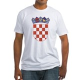 Croatia Fitted Light T-Shirts