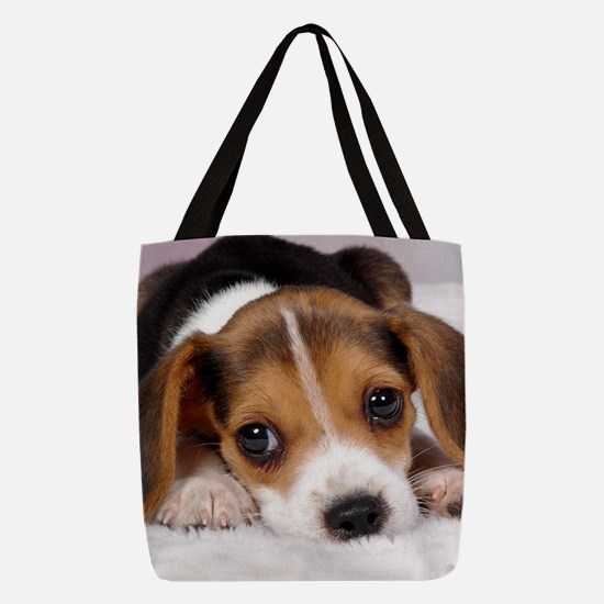 Cute Puppy Polyester Tote Bag
