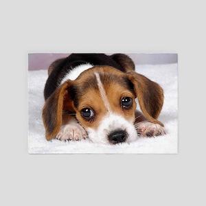 Cute Puppy 4' x 6' Rug