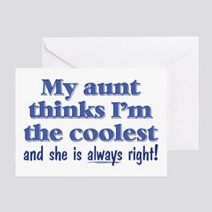 My Aunt Thinks Greeting Card