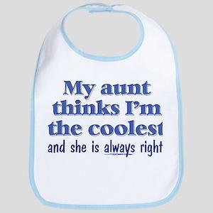 My Aunt Thinks Cotton Baby Bib