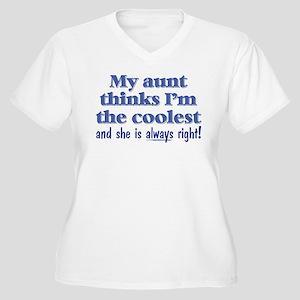 My Aunt Thinks Women's Plus Size V-Neck T-Shirt