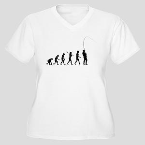 Fishing Women's Plus Size V-Neck T-Shirt