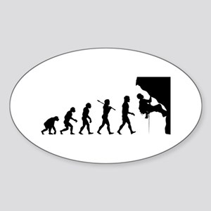 Rock Climbing Oval Sticker