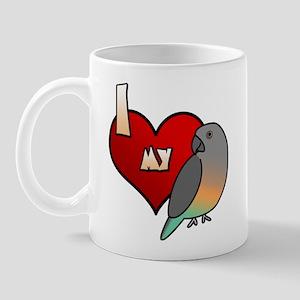 I Love my Red-Bellied Parrot Mug (Cartoon)