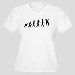 Skateboarding Women's Plus Size V-Neck T-Shirt