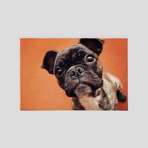 Bulldog Puppy 4' x 6' Rug