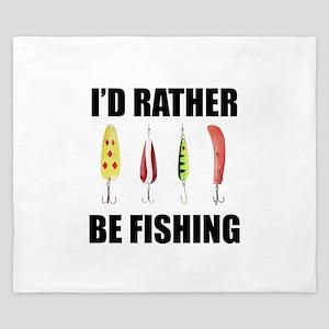 I'd Rather Be Fishing King Duvet