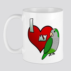 I Love my Quaker Parakeet Mug (Cartoon)