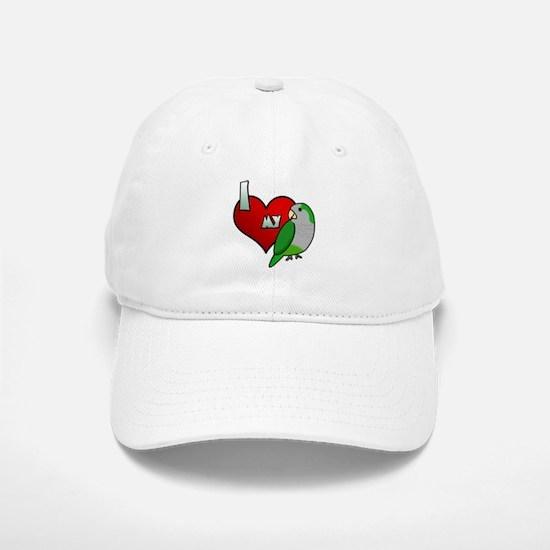 I Love my Quaker Parakeet Hat (Cartoon)