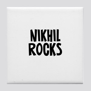 Nikhil Rocks Tile Coaster
