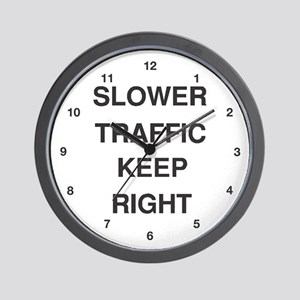 Slower Traffic Wall Clock