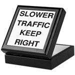 Slower Traffic Keepsake Box