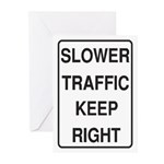 Slower Traffic Greeting Cards (Pk of 10)