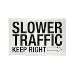 Slower Traffic Rectangle Magnet (10 pack)