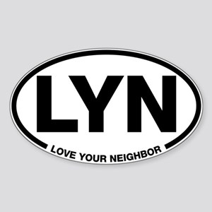 LYN Oval Sticker