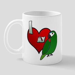 I Love my Hahn's Macaw Mug (Cartoon)