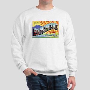 Burlington Vermont Greetings (Front) Sweatshirt