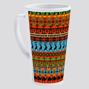 African Traditional Ornament 17 oz Latte Mug