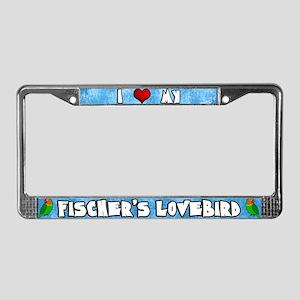 Ctn Love my Fischer's Lovebird License Plate Frame