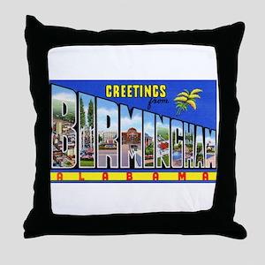Birmingham Alabama Greetings Throw Pillow