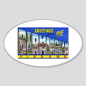 Birmingham Alabama Greetings Oval Sticker