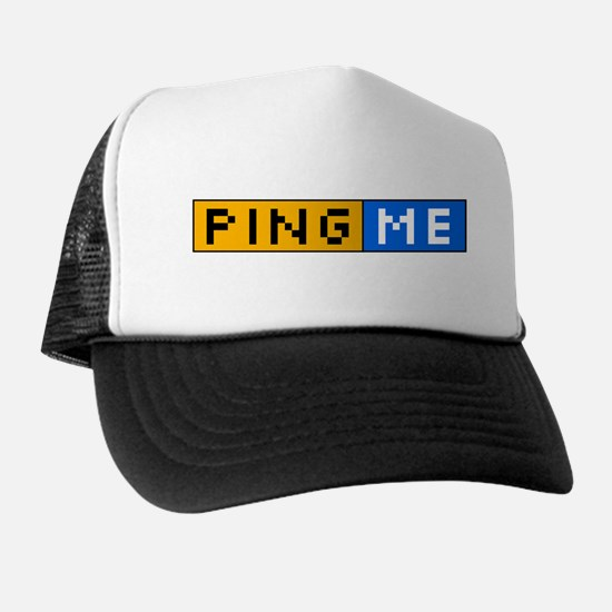 Ping Me Button Trucker Hat