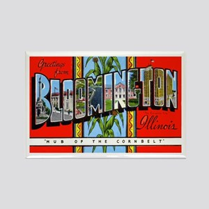 Bloomington Illinois Greetings Rectangle Magnet