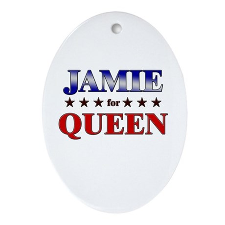JAMIE for queen Oval Ornament